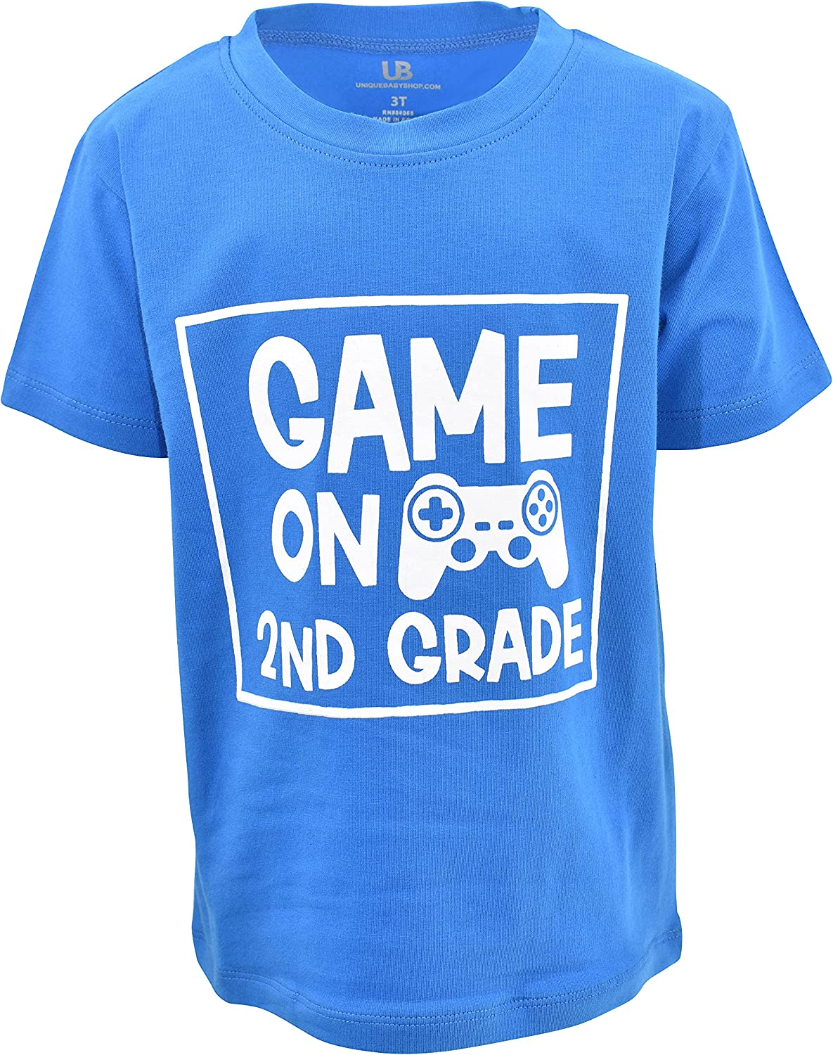 Unique Baby Boys Game On Back to School Gamer Tshirt