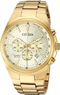 Citizen Men's ' Quartz Stainless Steel Casual Watch, Color:Gold-Toned (Model: AN8172-53P)
