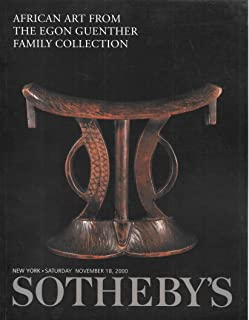African Art from the Egon Guenther Family Collection November 18, 2000