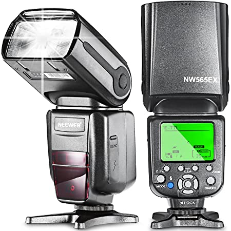 Neewer Blitzgerät Nw 565 E Ttl Slave Speedlite Flash Kamera
