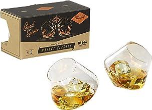 Gentlemen's Hardware Rocking Whisky Glasses x2 Whisky Glasses, Clear, GEN144