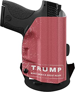We The People - Trump - Outside Waistband Concealed Carry - OWB Kydex Holster - Adjustable Ride/Cant/Retention