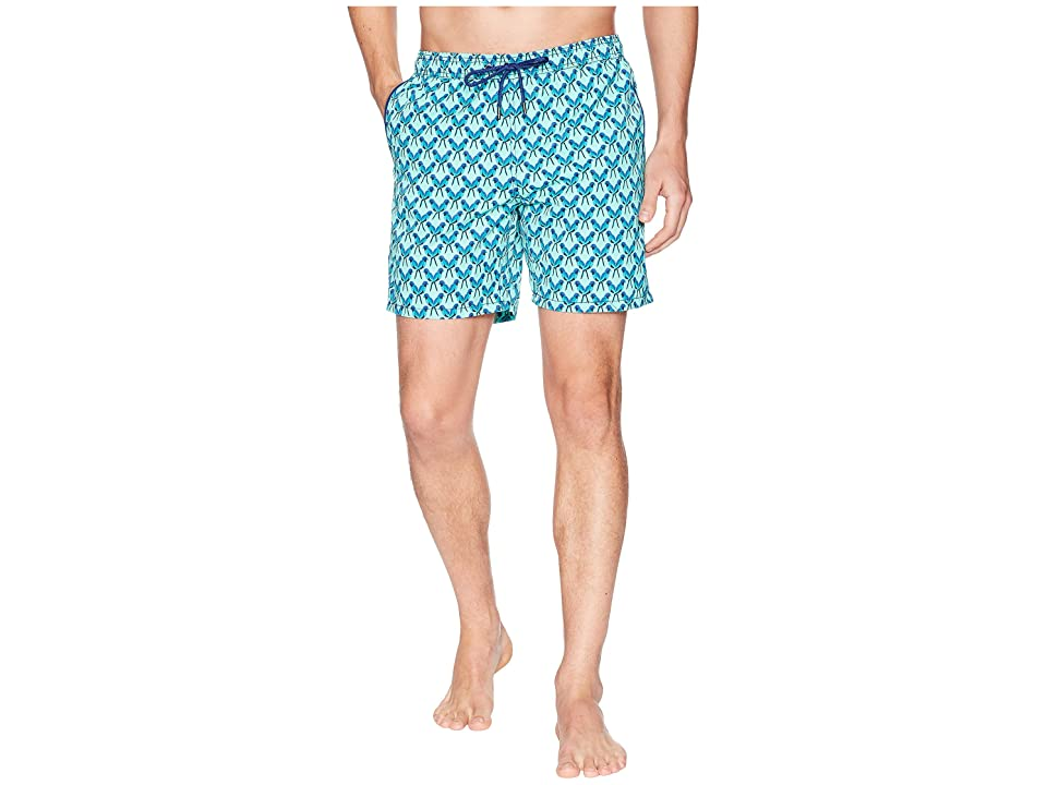 Mr. Swim Parrots Printed Dale Swim Trunks (Teal) Men