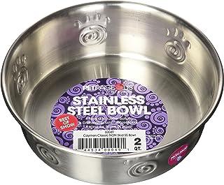 Petrageous Designs Cayman Classic Stainless Steel Pet Bowl, Holds 2 QTS