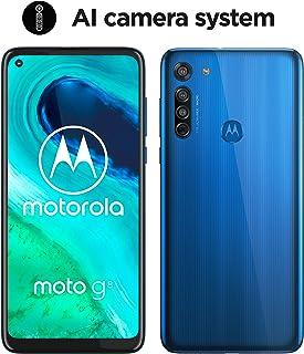 Motorola Moto G8 (Pantalla de 64 HD+ o-notch 4G Qualcomm Snapdragon SD665 Sistema de Cámara Triple 64 GB 4 GB RAM Android 10) Azul [Exclusivo Amazon]