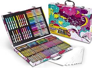 Crayola 绘儿乐灵感画笔套装 140件装珍藏礼盒 - 粉色 (适用年龄4岁及以上) (安全可水洗)