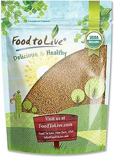 Organic Alfalfa Sprouting Seeds, 8 Ounces - Non-GMO, Kosher, Raw, Vegan, Bulk