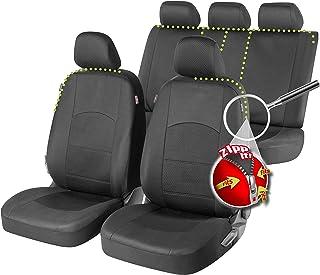 rmg-distribuzione Fundas de Asiento específicas para A4 versión (2002-2008) compatibles con Asientos con airbag, reposabrazos Lateral, Asientos Traseros Plegables R60S0023