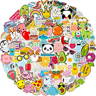 Stickers for Water Bottles, 102 Pack/PCS Cute Hydroflask Stickers, Waterproof Vsco Vinyl Aesthetic Computer Laptop Phone S...