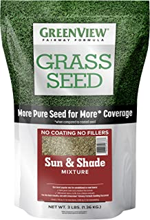 GreenView 2829336 Fairway Formula Grass Seed Sun & Shade Mixture, 3 lb