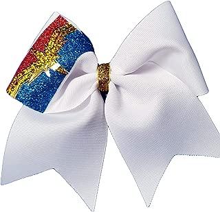 Cheer Bows White Captain Marvel Hair Bow