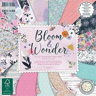 "FEPAD226   First Edition Bloom & Wonder Premium Paper Pad 6"" x 6""   64 Sheet Pad   200gsm Heavyweight Cardstock   Acid & L..."