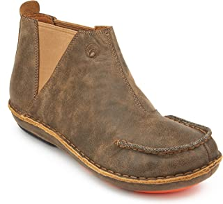 Seafarer Men's Boot Leather Slip On Ankle Booties