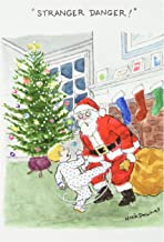 "1186 'Stranger Danger' - Funny Merry Christmas Greeting Card with 5"" x 7"" Envelope by NobleWorks"