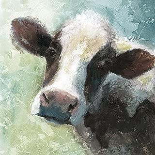 Portfolio Canvas Decor Portfolio Décor Gallery Wrapped Canvas Wall Art, 30x30 Colorful Quirky Cow Soft by Nan, 30 x 30