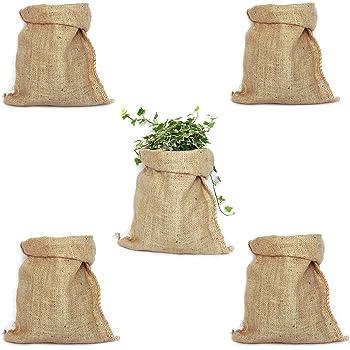 TBG Pack 4 Sacos Grandes de Yute 100% Natural - Bolsas Ecológicas ...