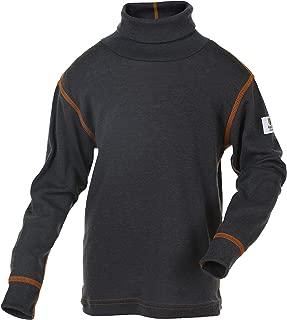 100% Merino Wool Baby Kids Long Sleeve High Collar T-Shirt Made in Norway