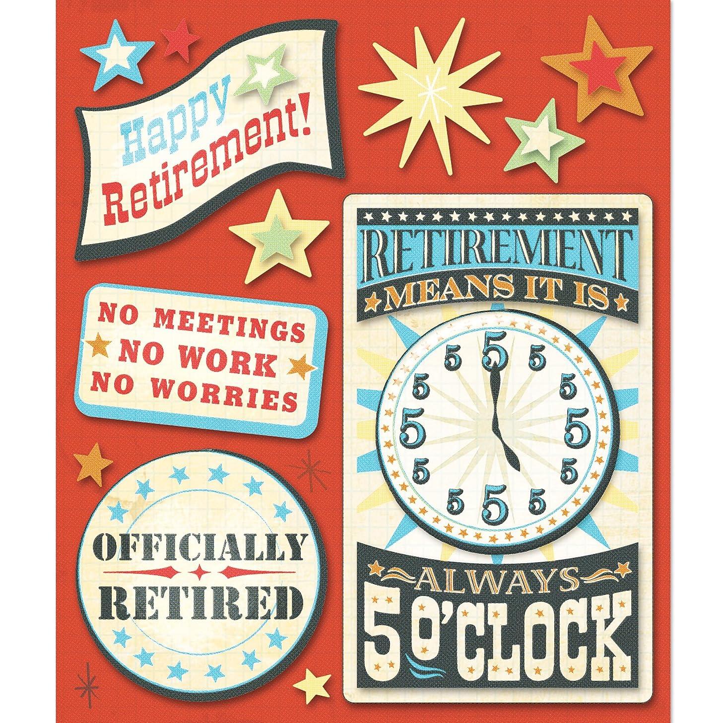 K&Company Retirement Sticker Medley