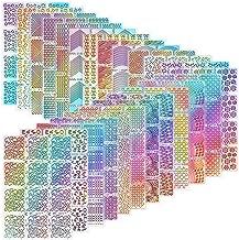 288 Pieces Nail Vinyl Stencils Nail Art Decoration Stickers Set Nail Art Design Stickers Tips Decals, 24 Sheets
