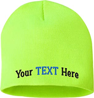 Peerless Skull Knit Hat with Custom Embroidery Your Text Here or Logo Here One Size SP08
