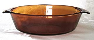 Vintage Anchor Hocking Fire-King (1.5 qt) Amber Brown Oval Casserole Baking Dish Bowl Ovenware with Lid (433)