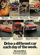 1974 AUDI 100 LS SEDAN COLOR AD - USA - TIME MAGAZINE - EXCELLENT !!