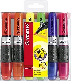 Surligneur - STABILO LUMINATOR - Pochette de 6 surligneurs à encre liquide - Coloris assortis