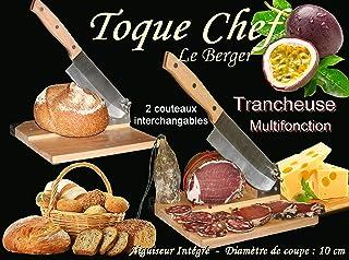 Trancheuse Universelle 2 en 1 2 Couteaux Guillotine à Saucisson Fromage Pain Toque Chef By Le Berger AFFUTEUR INTEGRE 2 La...