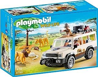 Playmobil Vida Salvaje - Vehículo Safari con Leones, Playset de Figuras de Juguete, Multicolor (Playmobil, 6798)