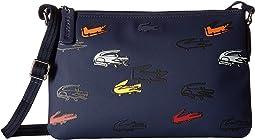 Lacoste - L.12.12 Concept Croc Flat Crossover Bag