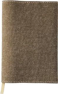 文庫判ブックカバー 20カラーデニム 布製 日本製 ブラウン SLD-9002 スリップオン