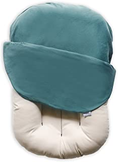 Snuggle Me Organic | Baby Lounger & Infant Floor Seat| Newborn Essentials | Organic Cotton, Virgin Fiberfill | Moss