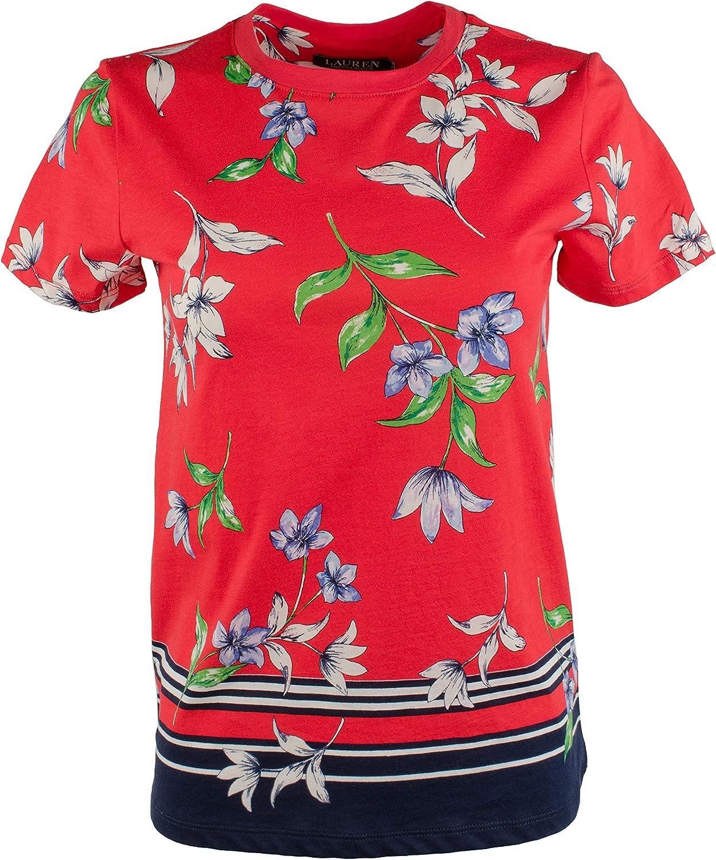 Lauren Ralph Lauren Women's Plus Floral Jersey Shirt
