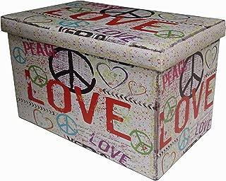 Eco- leather made folding pouf W60xDP36xH36 sized