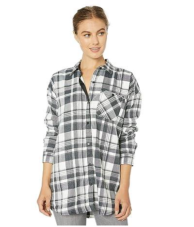 Burton Teyla Flannel Long Sleeve T-Shirt (True Black Marcy Plaid) Women