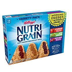 Kellogg's Nutri-Grain, Soft Baked Breakfast Bars, Variety Pack, 10.4 oz (8 Count)