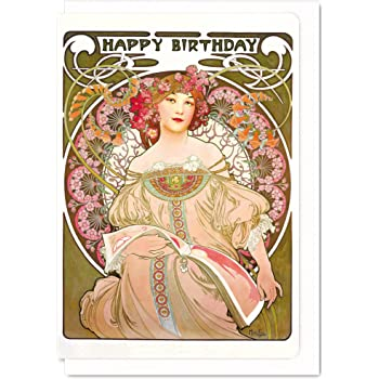 Vintage Happy Birthday Greeting Card Amazon Co Uk Office Products