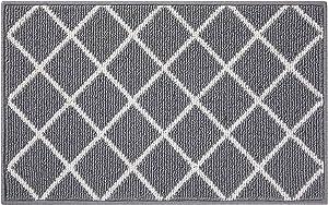 Finchitty Indoor Door Mat, Non-Slip Absorbent Resist Dirt Entrance Rug, Durable Machine Washable Rugs for Entryway, Low-Profile Inside Floor Doormat, 20