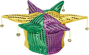 Glitz 'N Gleam Jester Hat (w/bells) Party Accessory (1 count)