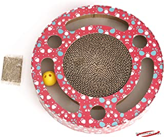 Nibble Pet Interactive Cat Scratch Pad with Bell Ball and Catnip