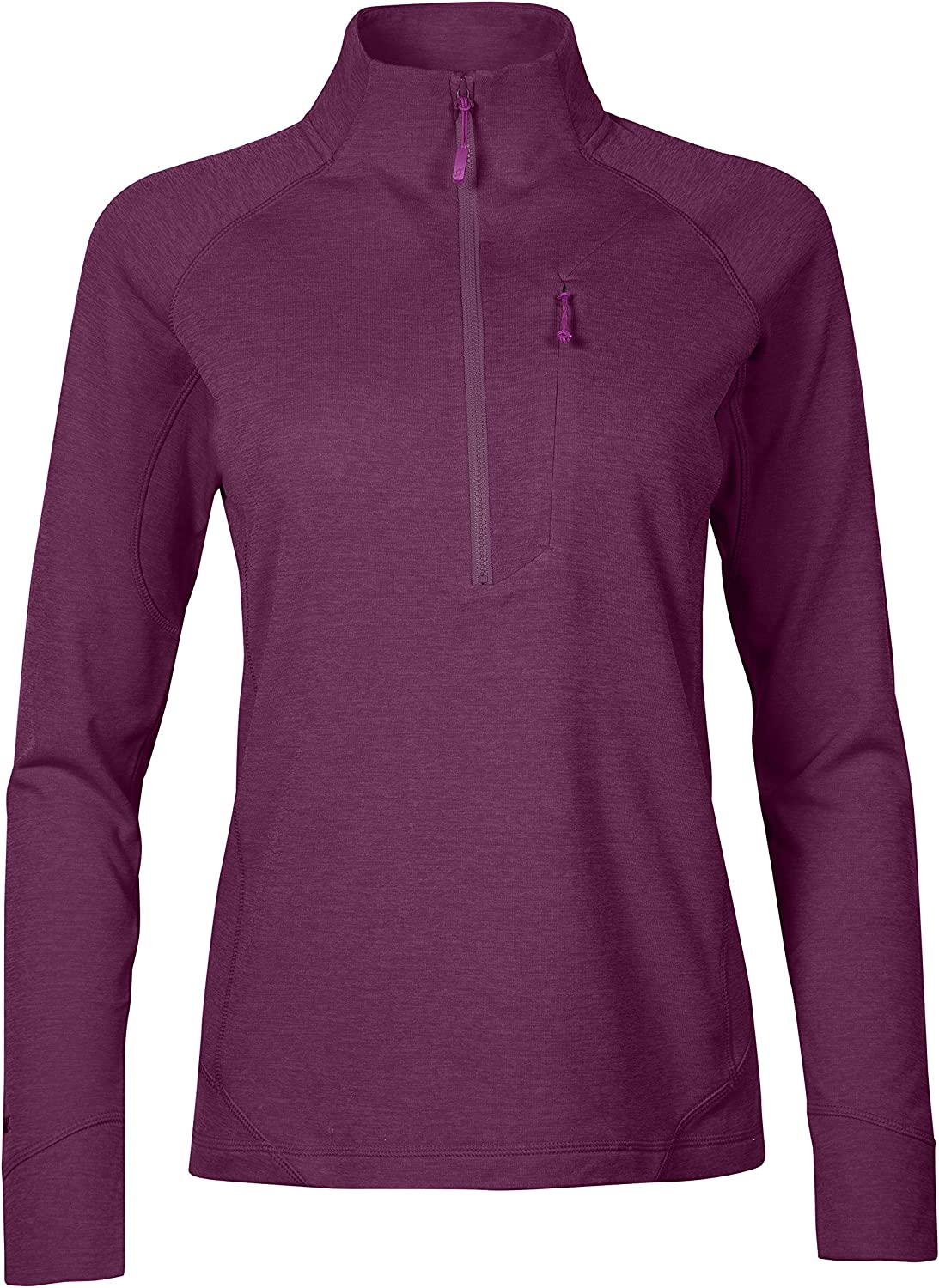 Rab Womens Nexus Pull-on Midlayer Fleece Top Light Weight Stretch 3//4 Zipped Front Chest Pocket