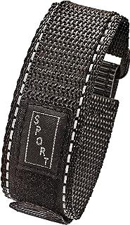 Alpine Sporty Padded Nylon Fabric watch band - watch strap 20 mm - Black/Black