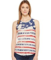 Lucky Brand - American Flag Print Tank Top