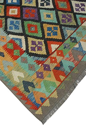 Noori Rug Sangat Zoie Brown/Charcoal Rug, 6'7 x 9'7