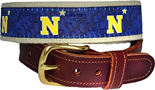 Naval Academy N Star Officially Licensed Premium Leather Tab Belt