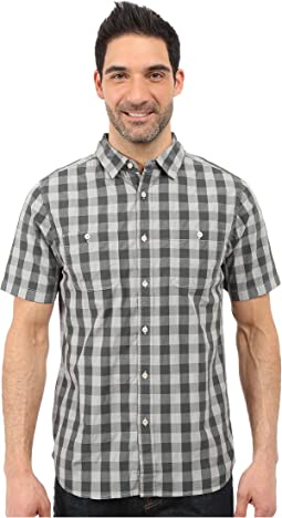 Short Sleeve Marled Gingham Shirt