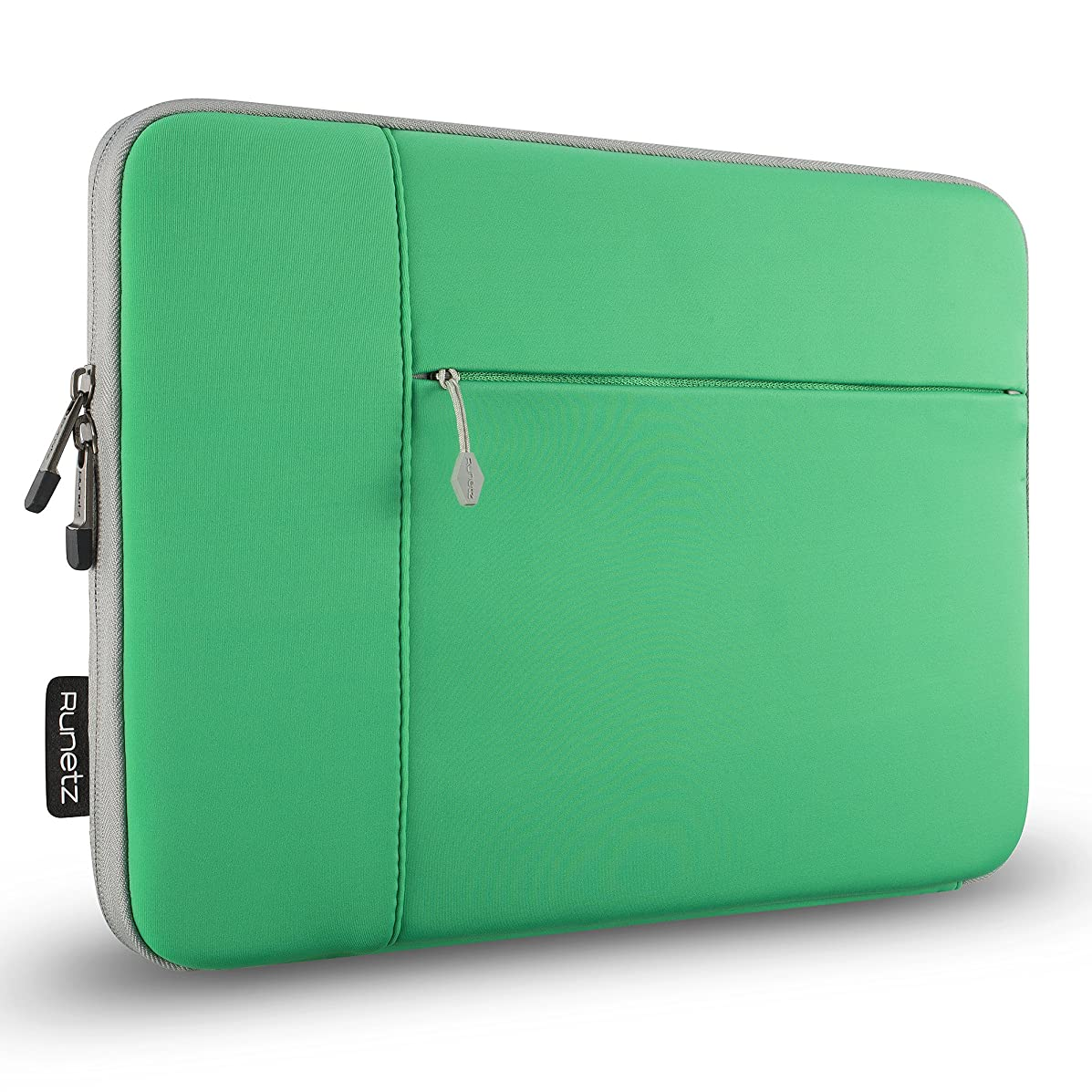 Runetz MacBook 12 inch Sleeve Neoprene Case for A1534 Retina Display, Release 2017 2016 2015 - Perfect Mac Laptop Bag Cover with Accessory Pocket - Green-Gray