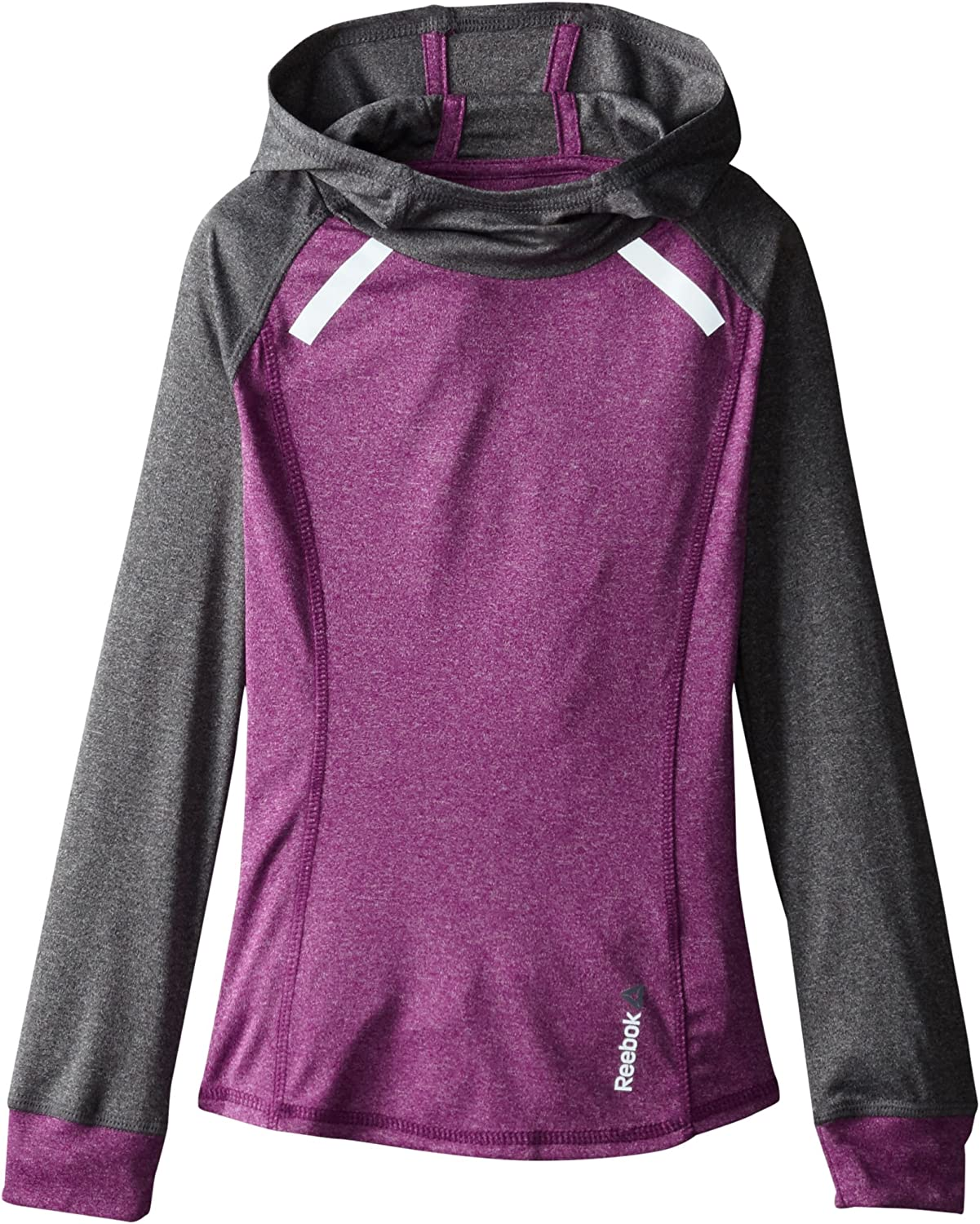 Reebok Girls' Mixed Heather Popover Hooded Top