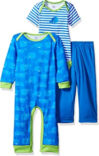 Baby Boys' 3-Piece Coverall, Bodysuit and Pant Set