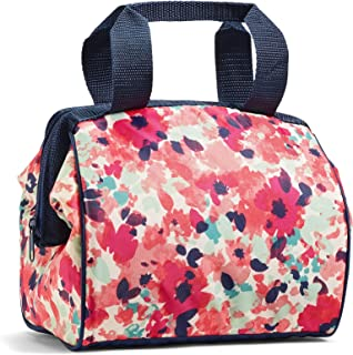 "Fit & Fresh Charlotte Lunch Bag Kit, 9"" x 6"" x 8"", Pink Floral Wash"